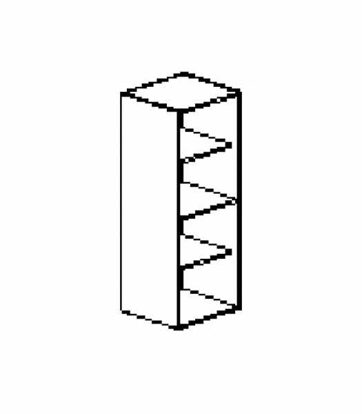 Silver irodabútor-irodai-négyrendezős-keskeny-nyitott-szekrény