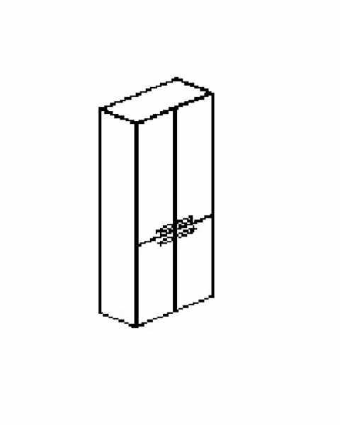 Silver irodabútor-irodai-ötrendezős-négyajtós-zárt-szekrény