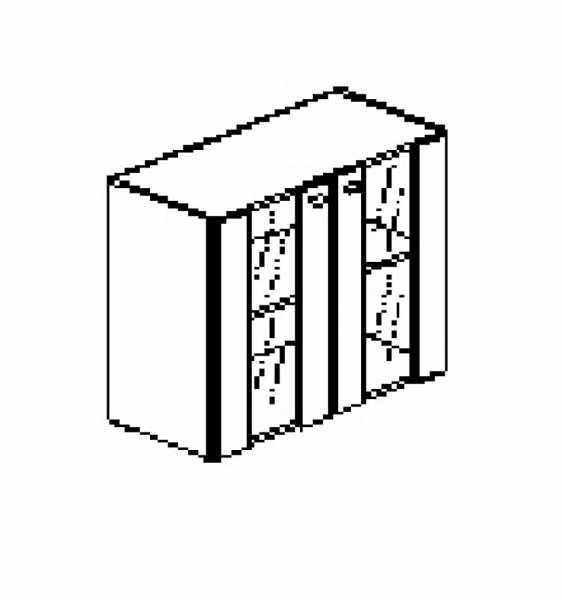Silver irodabútor-irodai-alacsony-üveg-ajtós-szekrény